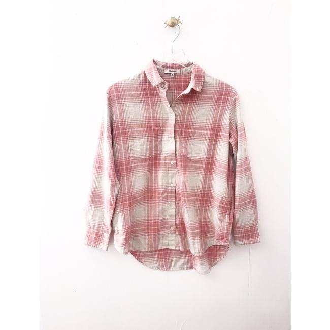 Madewell Button Down Shirt pink Image 1