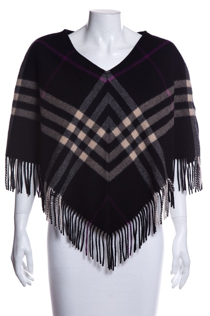 Preload https://img-static.tradesy.com/item/26149589/burberry-black-multi-color-wool-ponchocape-size-os-one-size-0-0-650-650.jpg