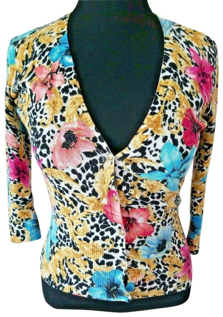 Preload https://img-static.tradesy.com/item/26149654/cache-multicolor-floral-animal-print-gold-shimmer-stretch-cardigan-size-8-m-0-1-650-650.jpg