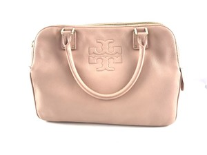 Tory Burch Thea Leather Zip Satchel in Pink