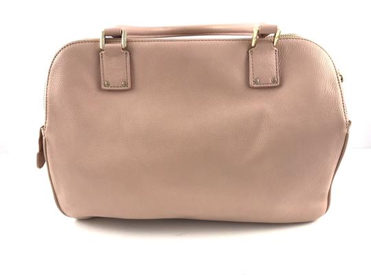 Tory Burch Thea Leather Zip Satchel in Pink Image 1