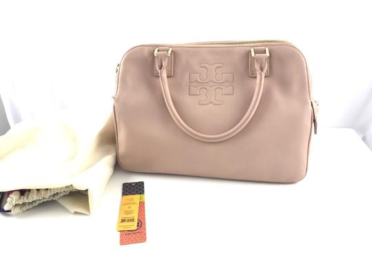 Tory Burch Thea Leather Zip Satchel in Pink Image 2