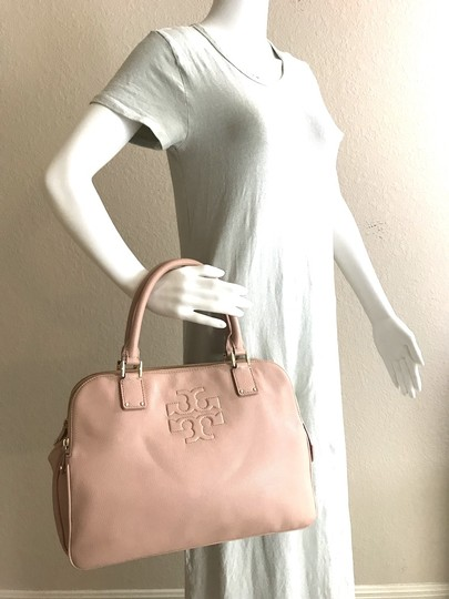 Tory Burch Thea Leather Zip Satchel in Pink Image 3