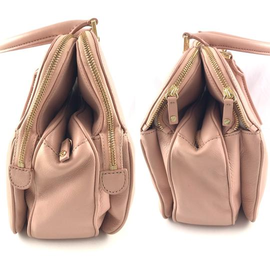 Tory Burch Thea Leather Zip Satchel in Pink Image 4