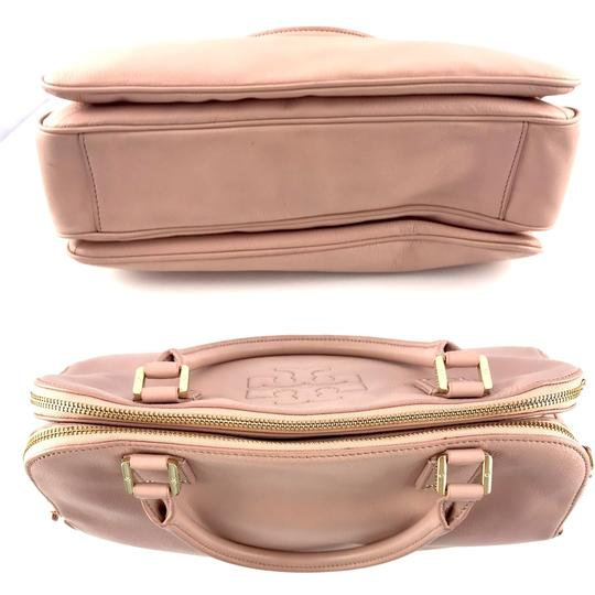 Tory Burch Thea Leather Zip Satchel in Pink Image 5