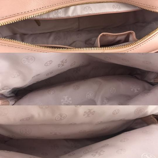 Tory Burch Thea Leather Zip Satchel in Pink Image 7