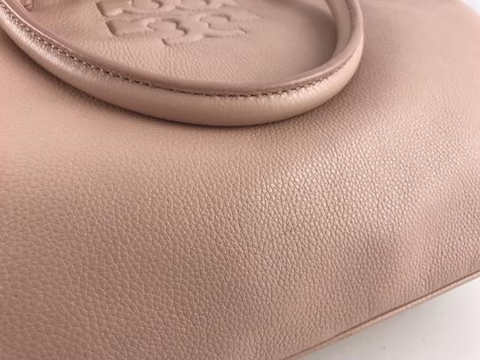 Tory Burch Thea Leather Zip Satchel in Pink Image 9
