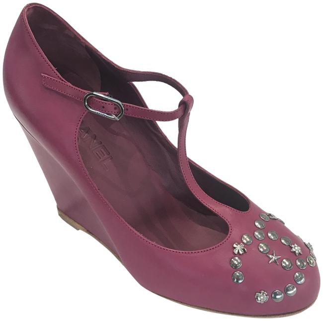 Item - Fuchsia Lucky Charms Round-toe Wedges Size EU 39 (Approx. US 9) Regular (M, B)