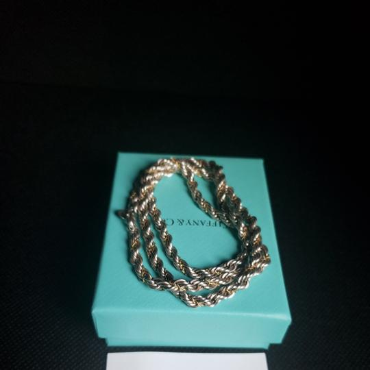 Tiffany & Co. Tiffany Rope Sterling Silver and 18k /750 rope necklace 24 inches Image 3