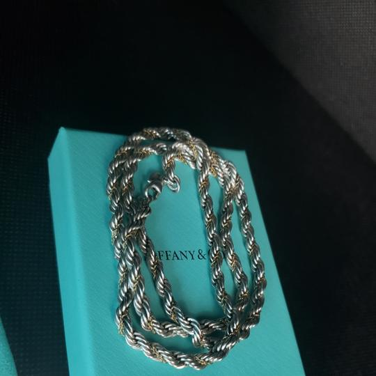 Tiffany & Co. Tiffany Rope Sterling Silver and 18k /750 rope necklace 24 inches Image 4