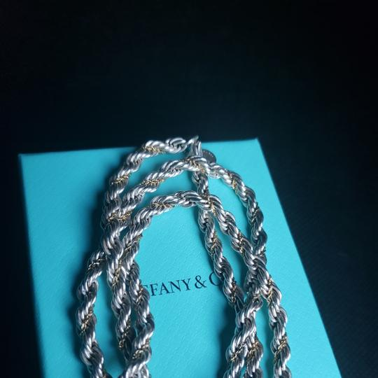 Tiffany & Co. Tiffany Rope Sterling Silver and 18k /750 rope necklace 24 inches Image 5