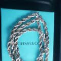 Tiffany & Co. Tiffany Rope Sterling Silver and 18k /750 rope necklace 24 inches Image 8