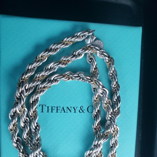Tiffany & Co. Tiffany Rope Sterling Silver and 18k /750 rope necklace 24 inches Image 9