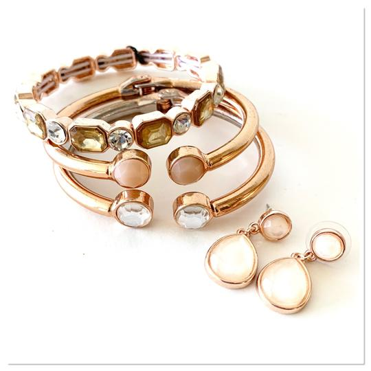 Macy's earrings and stackable bracelets set Image 7