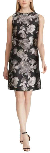 Preload https://img-static.tradesy.com/item/26149715/american-living-black-gray-floral-boat-neck-new-220-mid-length-cocktail-dress-size-14-l-0-1-650-650.jpg