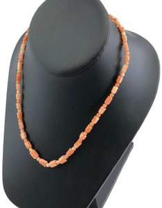 Other Carved Angel Skin Coral Pikake Bead Necklace