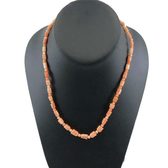 Other Carved Angel Skin Coral Pikake Bead Necklace Image 1