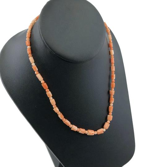 Other Carved Angel Skin Coral Pikake Bead Necklace Image 2
