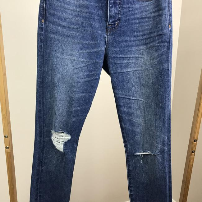 Madewell Raw Hems Deconstructed Distressed High Rise Skinny Jeans-Medium Wash Image 2
