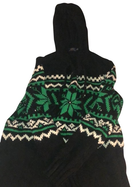 Preload https://img-static.tradesy.com/item/26149756/polo-ralph-lauren-knit-black-with-white-and-green-print-sweater-0-1-650-650.jpg