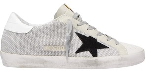 Golden Goose Deluxe Brand Mesh Suede Leather Sneakers off-white, white, black Athletic