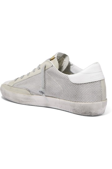 Golden Goose Deluxe Brand Mesh Suede Leather Sneakers off-white, white, black Athletic Image 2