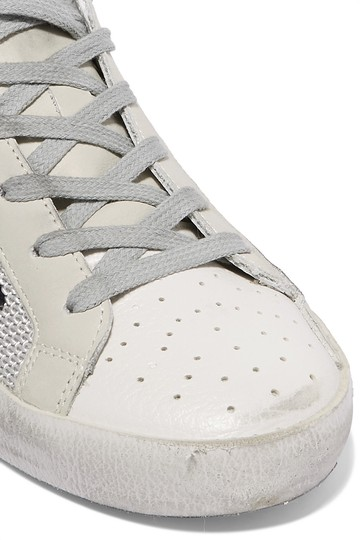 Golden Goose Deluxe Brand Mesh Suede Leather Sneakers off-white, white, black Athletic Image 1