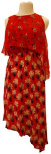 Anna Sui short dress Red and multicolor Floral on Tradesy
