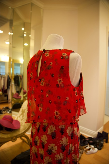 Anna Sui short dress Red and multicolor Floral on Tradesy Image 2