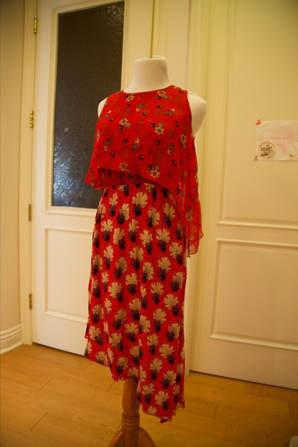 Anna Sui short dress Red and multicolor Floral on Tradesy Image 5
