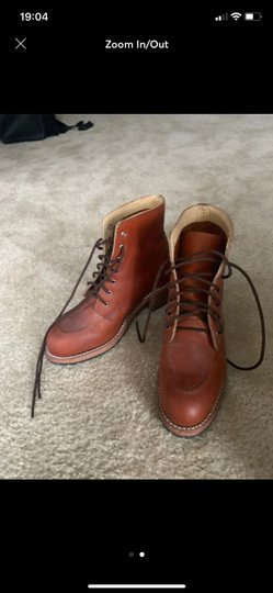 Red Wing Orange Boots Image 1