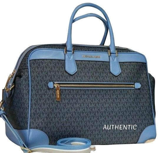 Preload https://img-static.tradesy.com/item/26149855/michael-kors-luggage-lrg-carry-weekendtravel-french-blue-pvc-weekendtravel-bag-0-1-540-540.jpg