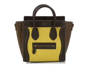 Céline Ce.q0905.07 Olive Leather Tote in Green