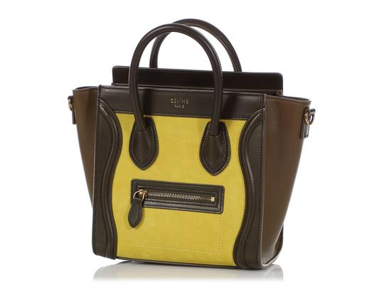 Céline Ce.q0905.07 Olive Leather Tote in Green Image 1