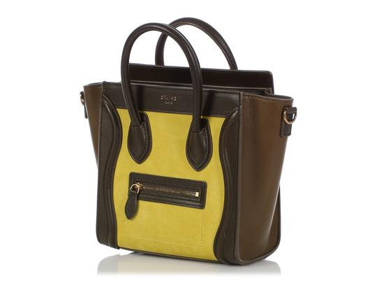 Céline Ce.q0905.07 Olive Leather Tote in Green Image 2
