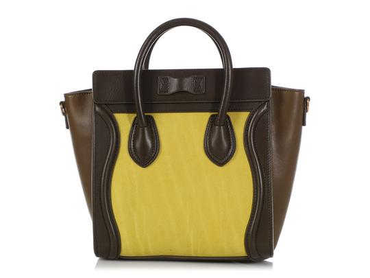 Céline Ce.q0905.07 Olive Leather Tote in Green Image 3