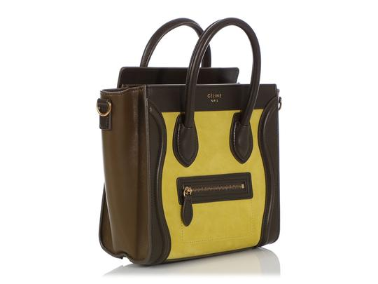 Céline Ce.q0905.07 Olive Leather Tote in Green Image 4