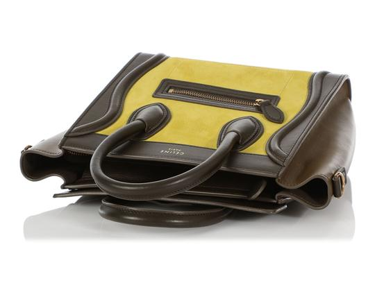 Céline Ce.q0905.07 Olive Leather Tote in Green Image 6
