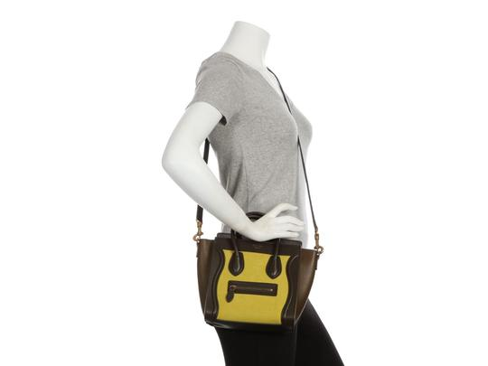 Céline Ce.q0905.07 Olive Leather Tote in Green Image 8