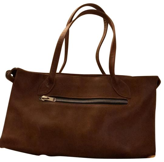 village tannery Tote in camel Image 0
