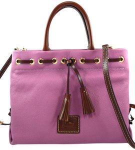 Dooney & Bourke Satchel in pink mauve