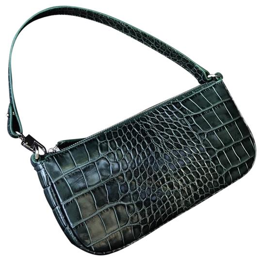 Preload https://img-static.tradesy.com/item/26149919/by-far-rachel-crocodile-effect-in-dark-green-leather-baguette-0-1-540-540.jpg