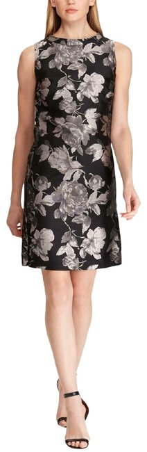 Preload https://img-static.tradesy.com/item/26149923/american-living-black-floral-sleeveless-gray-new-mid-length-cocktail-dress-size-14-l-0-1-650-650.jpg