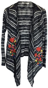 Desigual Striped Embroidered Floral Sweater