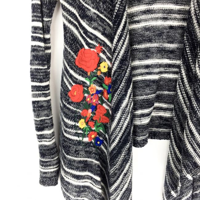 Desigual Striped Embroidered Floral Sweater Image 1