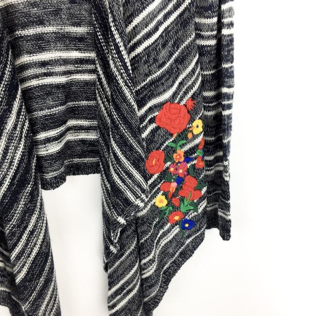 Desigual Striped Embroidered Floral Sweater Image 2