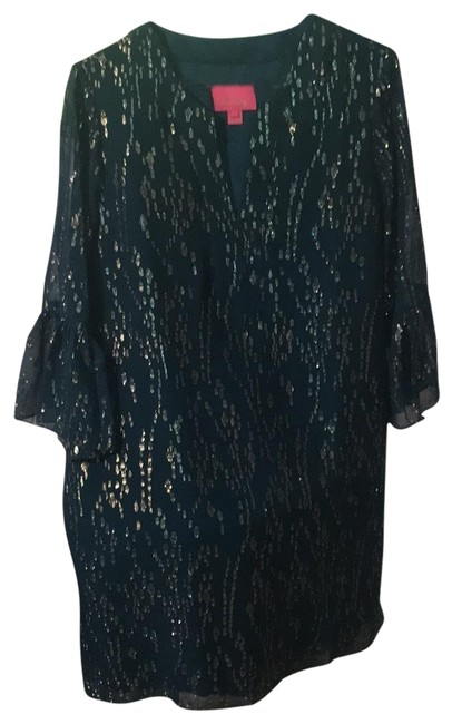 Preload https://img-static.tradesy.com/item/26149963/lilly-pulitzer-tealgold-001243-mid-length-cocktail-dress-size-12-l-0-1-650-650.jpg