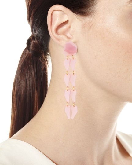 Lele Sadoughi Lele Sadoughi Pink Wisteria Petal Drop Earrings E902 Image 2