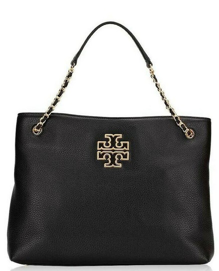 Tory Burch Purse Chain Leather Tote in Black Image 1