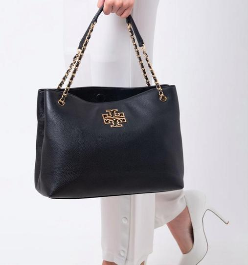 Tory Burch Purse Chain Leather Tote in Black Image 11